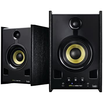 speakers in amazon. hercules dj xps 2.0 80 monitor speakers (black) in amazon