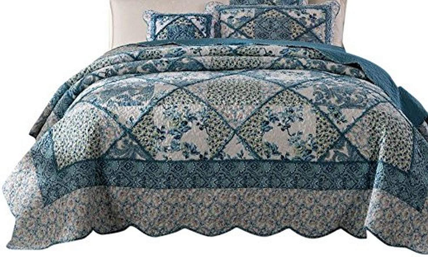 Tache Home Fashion JHW-646-T-CK Quilt, Cal King, Blue