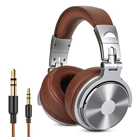 c86ab8b822f Over Ear Headphone, Wired Premium Stereo Sound Headsets with 50mm Driver,  Foldable Comfortable Headphones