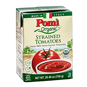 Pomi USDA Organic Strained Tomatoes, 26.46 Ounce ( Pack of 12)