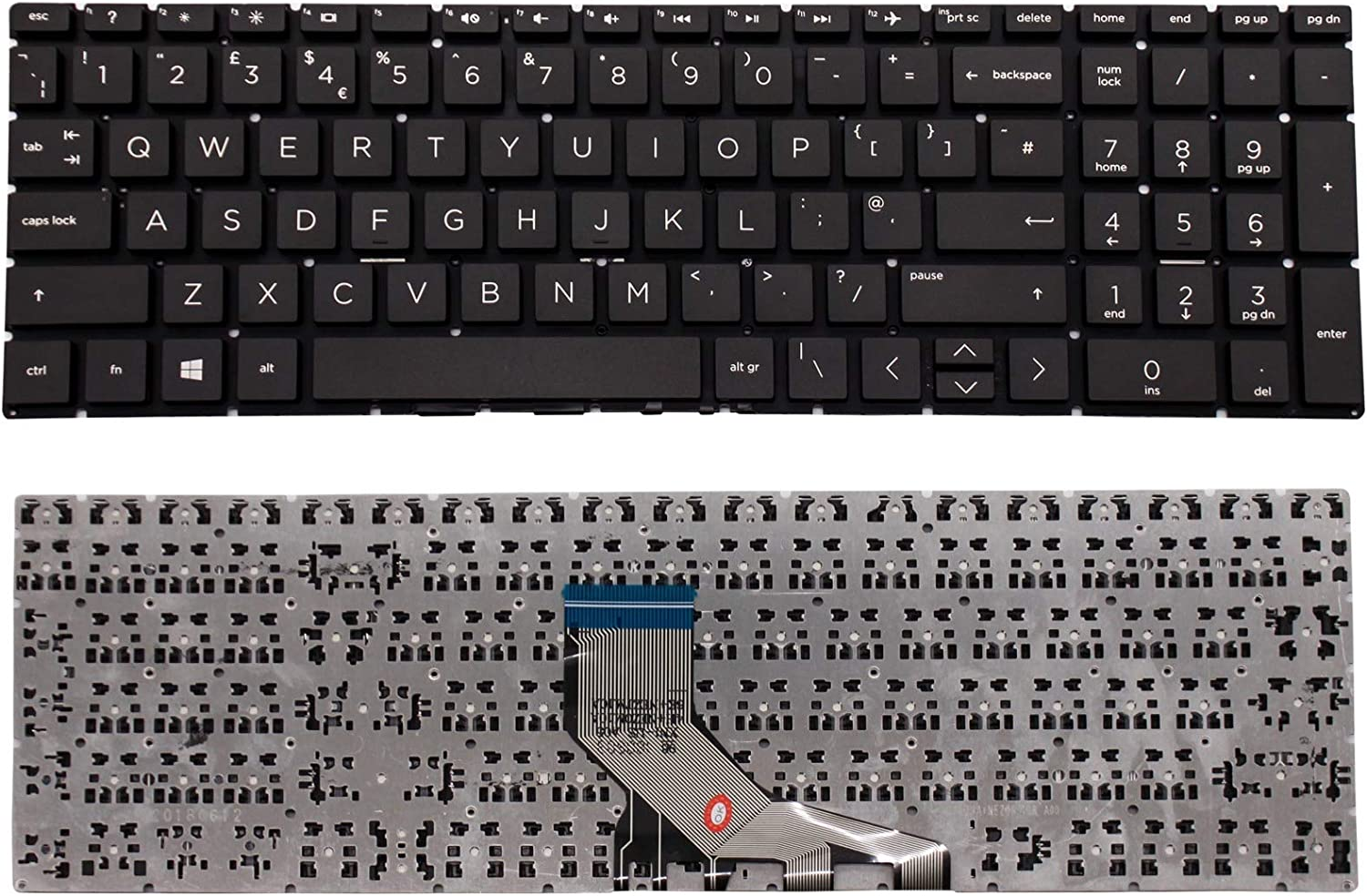 For HP PK1314D1A09 Replacement Laptop Keyboard UK Layout Black Color New UK Ship