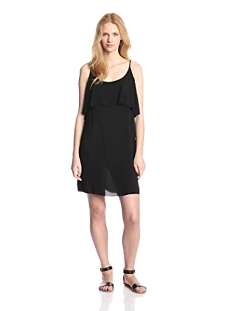 VELVET BY GRAHAM & SPENCER Women's Cami Dress, Black, Petite