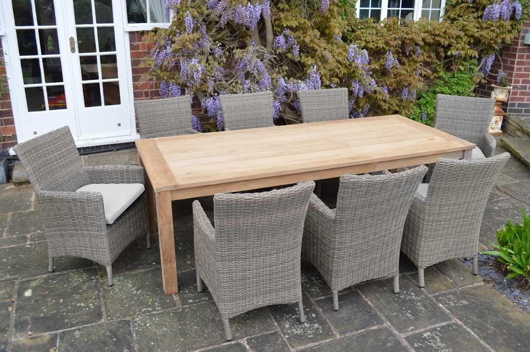 Charles Bentley jardín teca Premium al aire libre 9 piezas ...