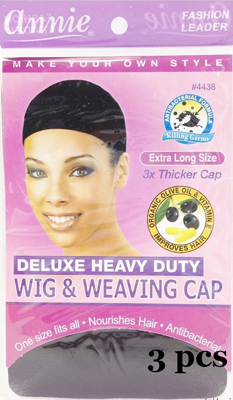 Amazon Annie Deluxe Heavy Duty Wig Weaving Cap Black 4438