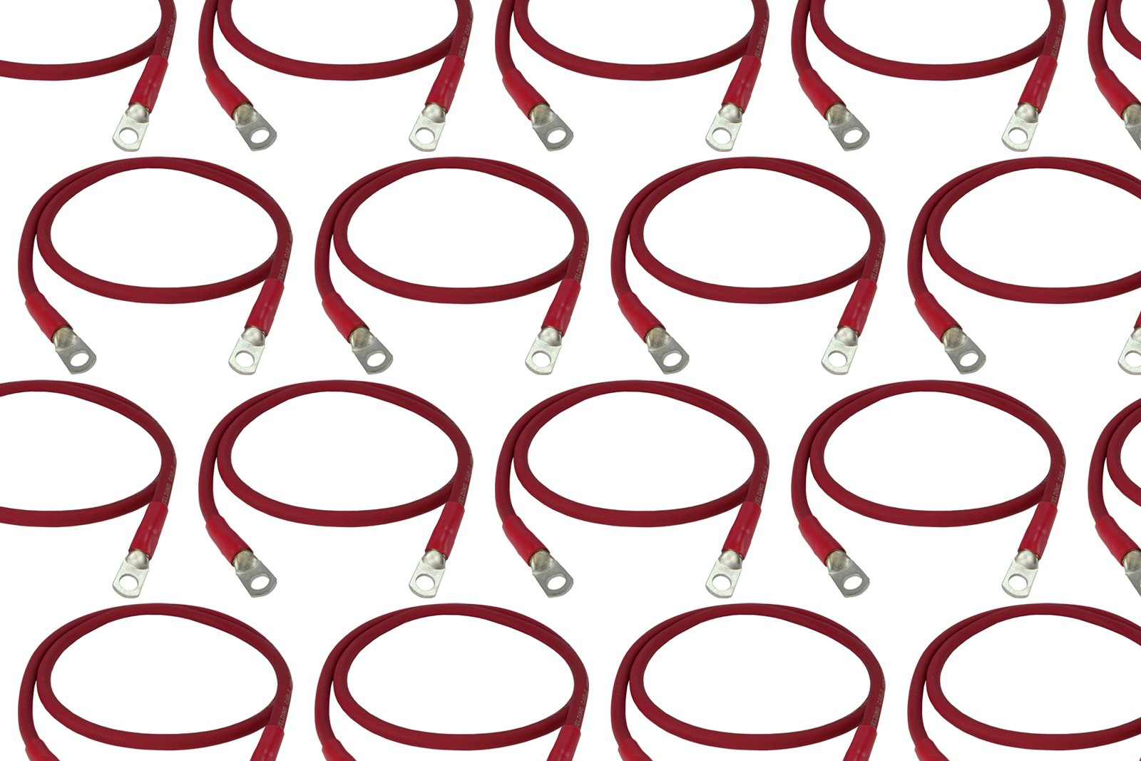 TEMCo 100 LOT 6 Gauge 36in - 1/4 in Hole Sizes Red Solar Battery Cables Power AWG Solar Inverter Golf Cart Car GLUE SEALED
