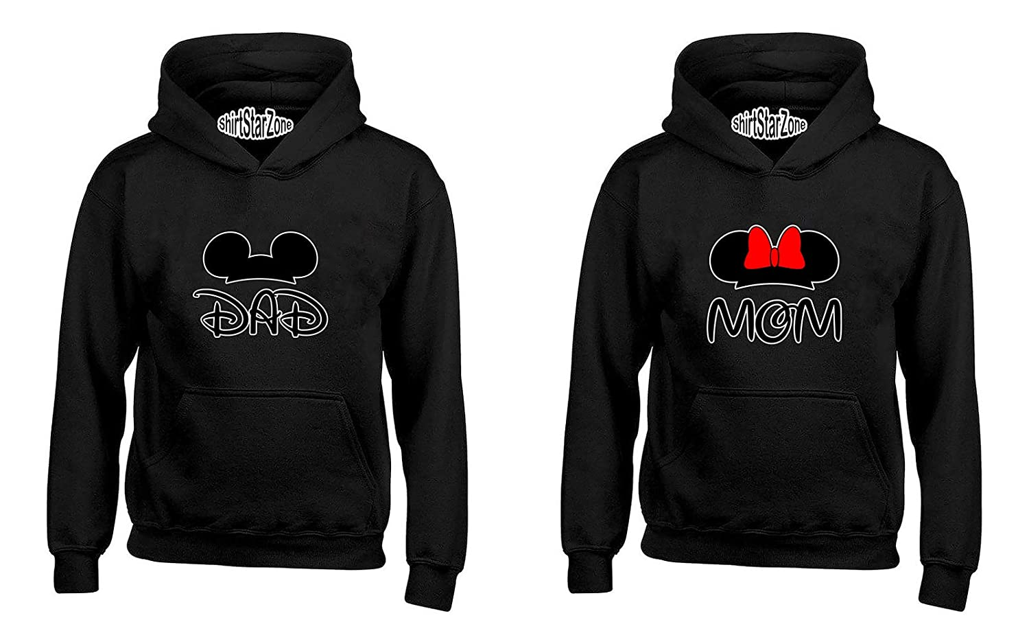 YSM Cartoon Character Dad and Mom Matching Couples Hoodies