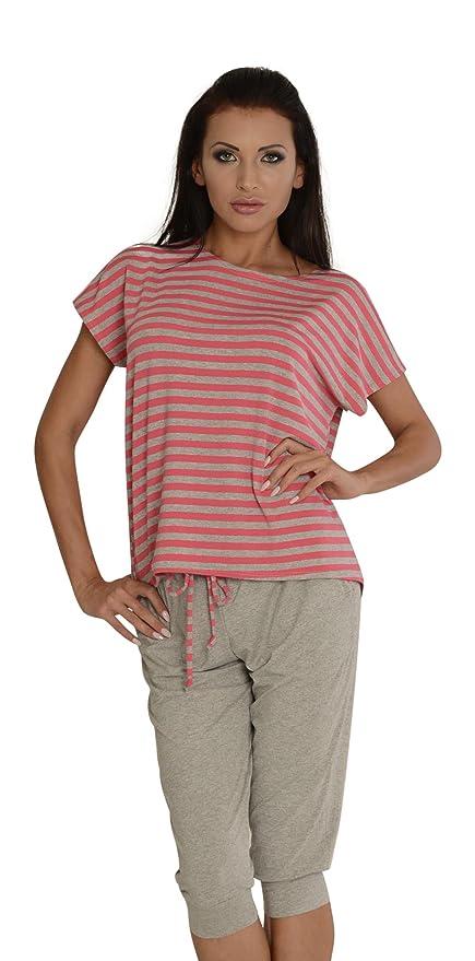 Mujer Pijamas Suaves Comodo T Shirt Y Polainas Set Descanso: Amazon.es: Ropa y accesorios