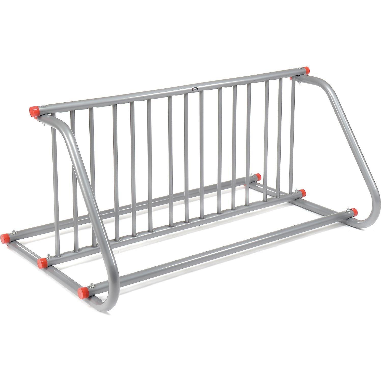 59-3/4''L Grid Bike Rack, Double Sided, Powder Coated Galvanized Steel, 10-Bike Capacity