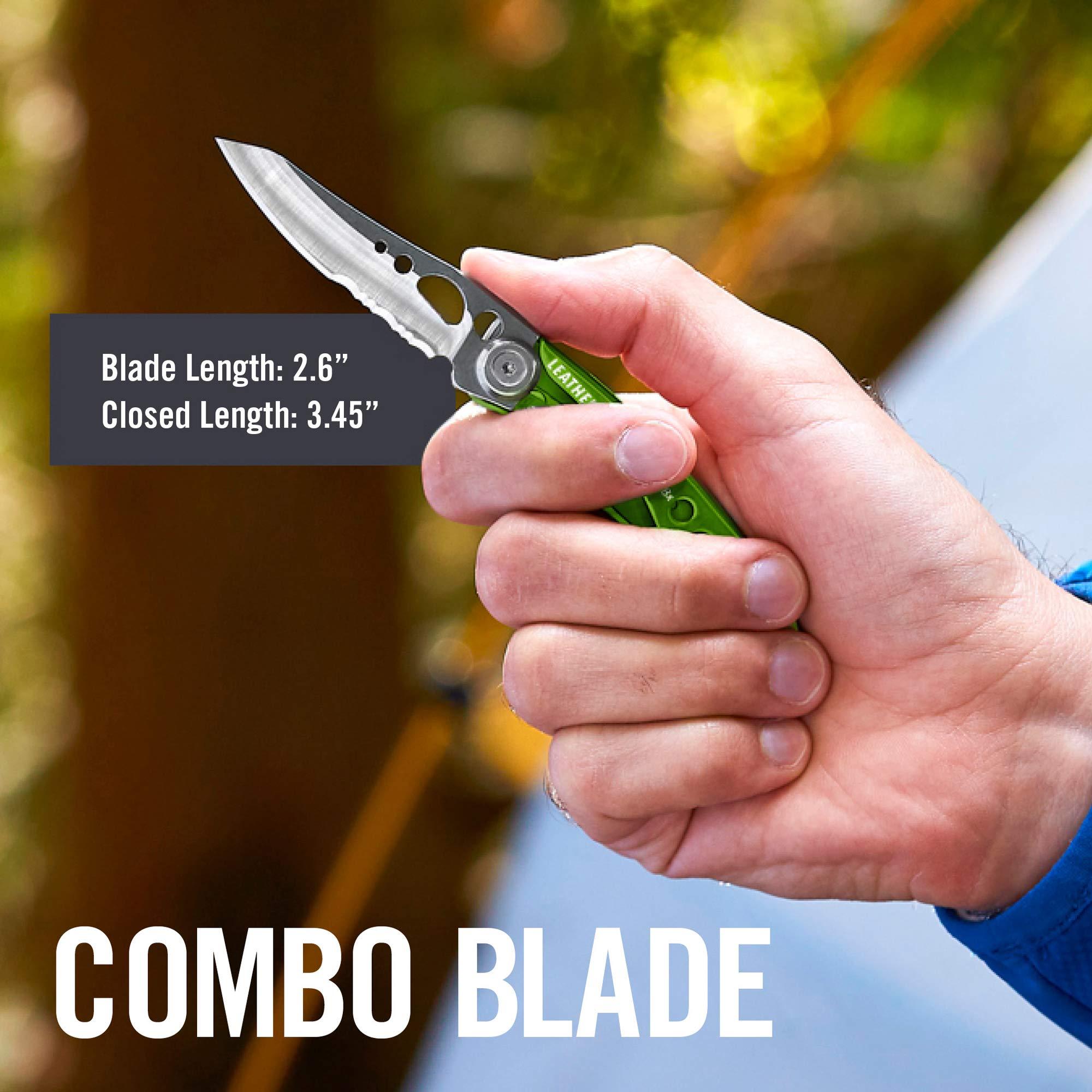 LEATHERMAN - Skeletool KBX Pocket Knife with Bottle Opener, Moss Green by LEATHERMAN (Image #8)