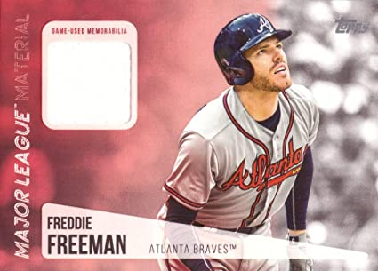2017 Topps Tier One Relics #T1R-FF Freddie Freeman Atlanta Braves Game Worn Jersey Baseball Card Only 331 made!