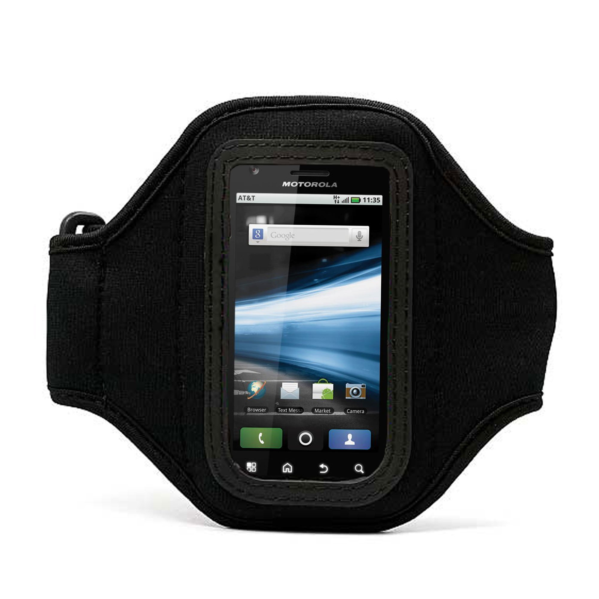 Elegant OEM VG Brand (Black) Armband with Sweat Resistant lining for HTC Droid Incredible 2 3G Android Phone + Live * Laugh * Love VanGoddy Wrist Band!!!