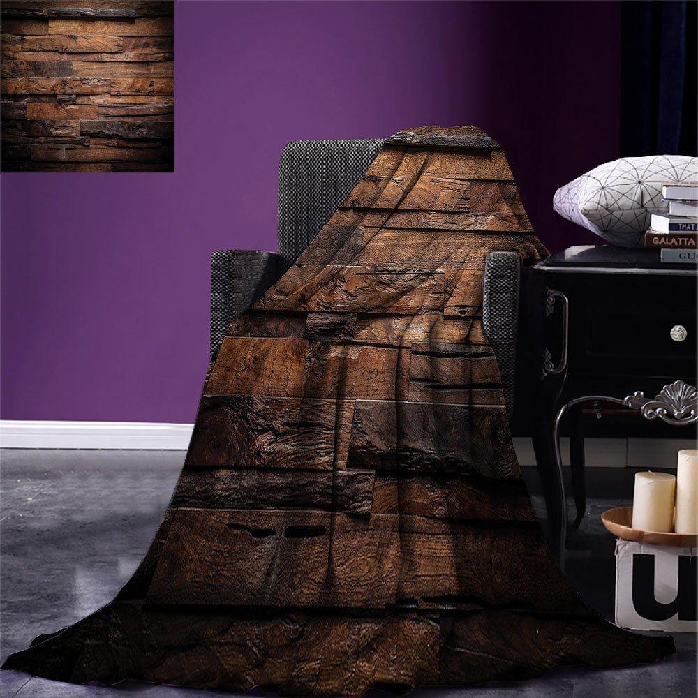 smallbeefly Chocolate Digital Printing Blanket Rough Dark Timber Texture Image Rustic Country Theme Hardwood Carpentry Summer Quilt Comforter Brown Dark Brown