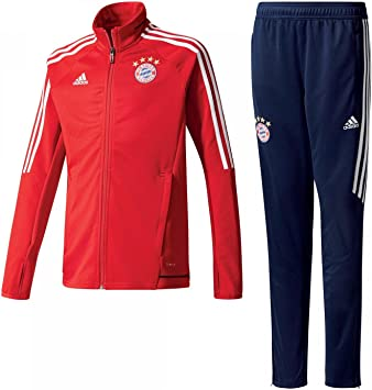 2017 2018 Bayern Munich Adidas Training Suit (Red) Kids