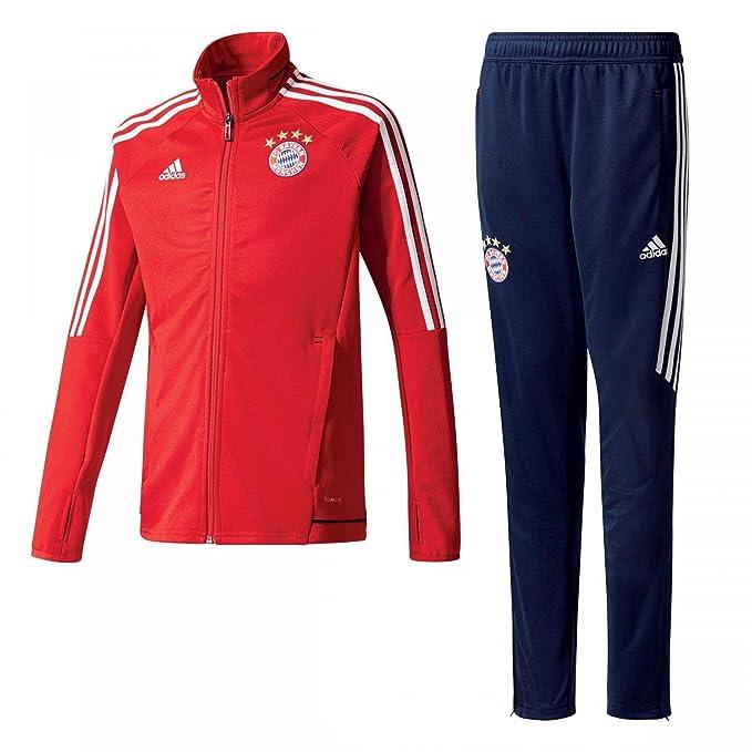 0fa0bd9ffb03c2 adidas FCB TRG Y FC Bayern Monaco, Tuta Bambino, Rosso (Rojfcb/Bianco