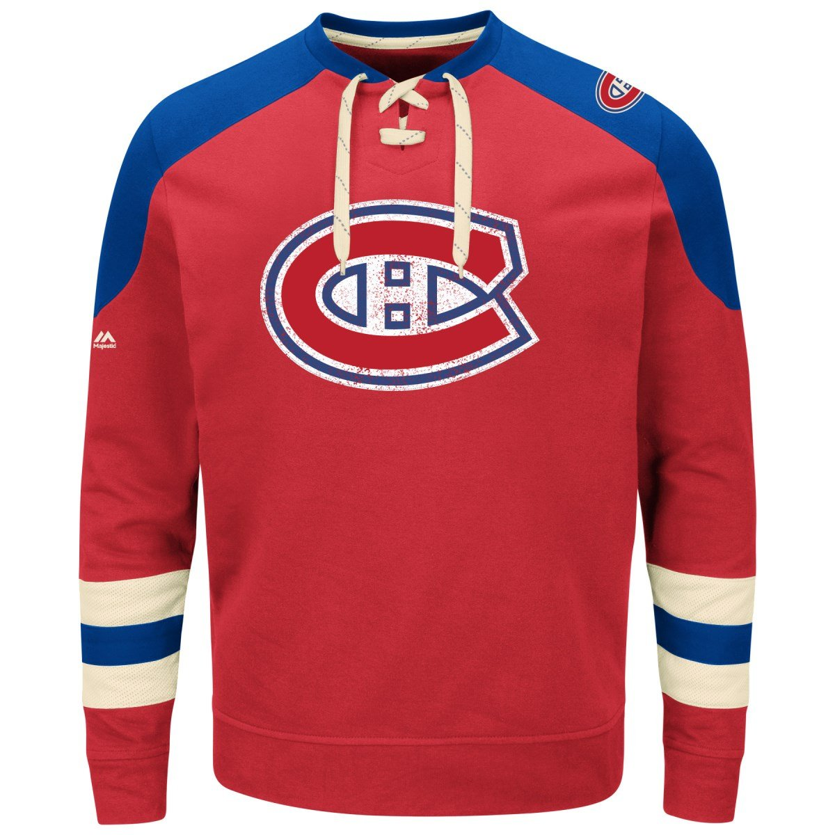 Montreal Canadiens Majestic NHL Vintage Centre Men's Pullover Crew Sweatshirt