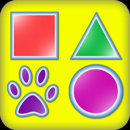 Lernen Formen - 3 in 1-Spiele für Kinder mit Formen und Farben
