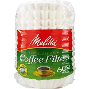 Melitta 631132 Coffee Filters, Basket Style, 600 Count (Pack of 1)