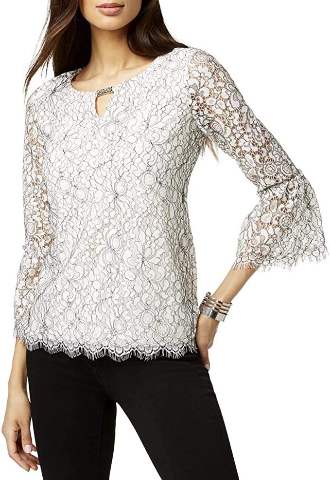 Jm Collection Printed Keyhole Top, Only at Macys | Tops