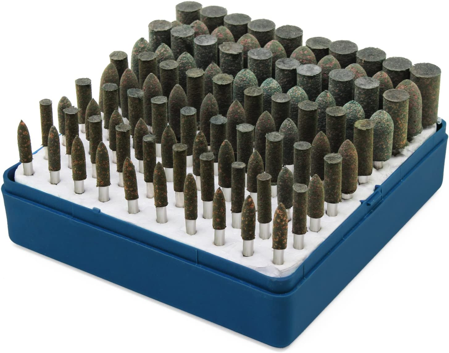 100PCS 3mm Shank 4mm Cylinder Head Grinding Bit Polisher Mounted Point