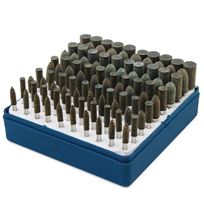HSeaMall 100 UNIDS Cabezal de pulido de pulido Piedra abrasiva Accesorios para cabezales de pulido Dremel