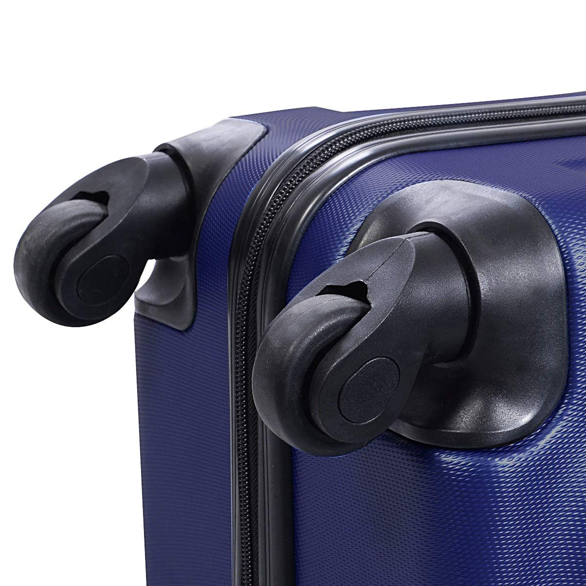 3 pcs Luggage Trolley Case Set Dark Blue Only by eight24hours