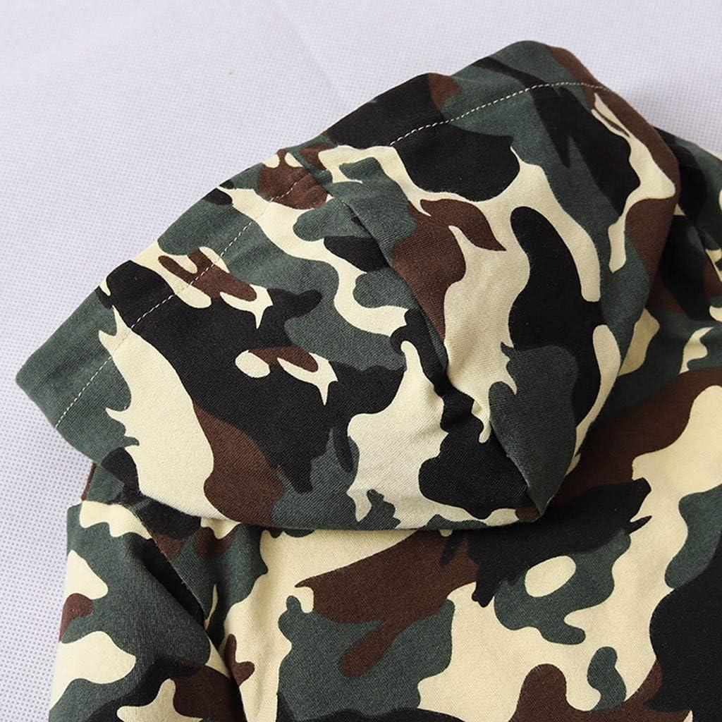 Jamicy /™ Newborn Kids Baby Boys Camouflag Hoodie T-Shirt Top Sweatshirts Pants Outfits Set Infant Long Sleeve Zip Camo Jumpsuit