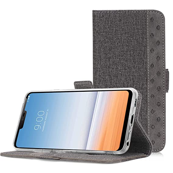 uk availability 374d6 3455d LG G7 Wallet Flip Case, LG G7 ThinQ Case, ProCase Folio Folding Wallet Case  Flip Cover Protective Case for LG G7 ThinQ 2018, with Card Holders ...