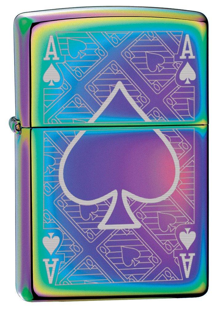 Zippo Custom Lighter: Ace of Spades Engraved - Spectrum 78747 by Zippo