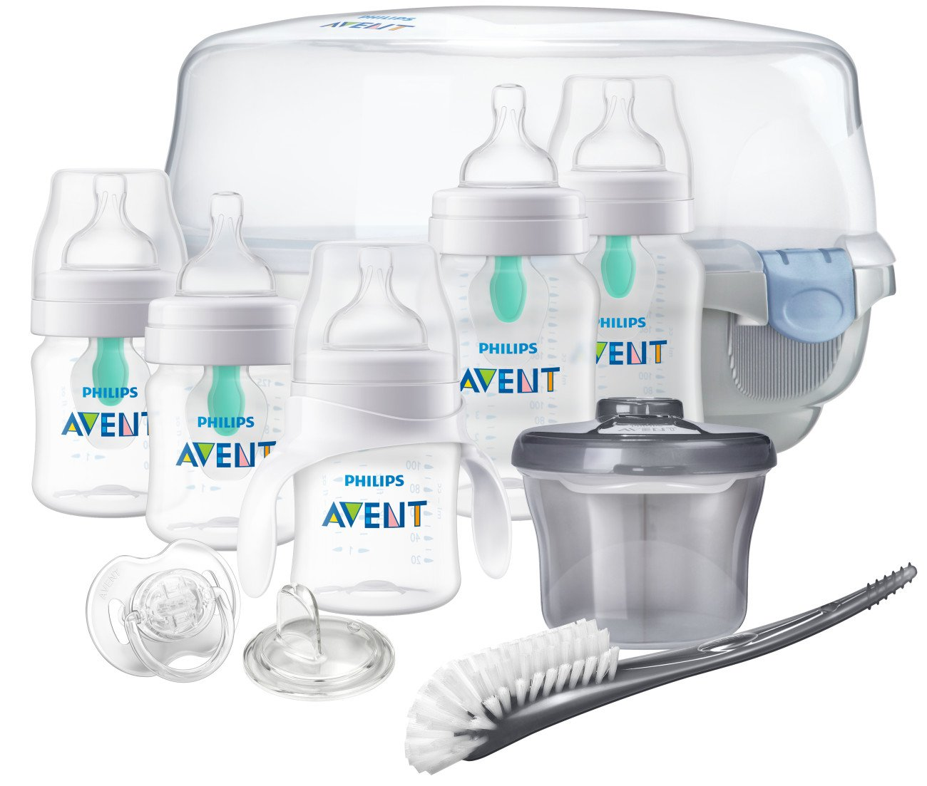 Philips Avent Anti-Colic Baby Bottle with AirFree Vent Gift Set Essentials, SCD398/02 by Philips AVENT