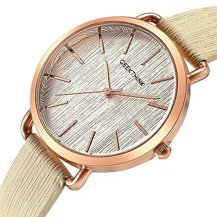 SW Watches Reloj para Mujer Analogico De Cuarzo con Correa De Cuero ... 9ab07223743e