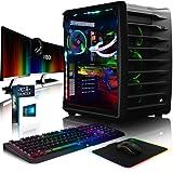 VIBOX Spectrum GXR780-512 Pack PC Gamer - 4,0GHz CPU 10-Core i7, GTX 1080, VR prêt, Ordinateur PC de Bureau Gaming avec Watercooling 2 paquets de jeux (Compris For Honor Code), avec Écran, Windows 10, NZXT Hue RGB Éclairage (3,0GHz (4,0GHz Turbo) Processeur CPU 10 Core Intel Core i7 6950X Broadwell Extreme, Carte Graphique Haute Performance Nvidia GeForce GTX 1080 8 Go, 64 Go Mémoire RAM DDR4 3000MHz, SSD 960 Go, Disque Dur 3 To, Refroidissement Liquide Alphacool Eisbaer)