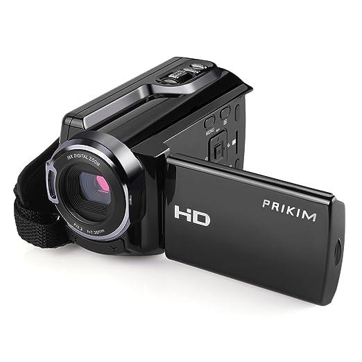 6 opinioni per PRIKIM Video Camera Camcorder 1920x1080p 30FTPS FHD Portable WiFi 16X Fotocamera