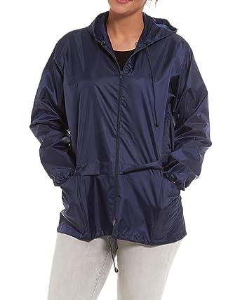 MENS WOMENS ADULTS KAGOOL CAGOULE SHOWER PROOF HOODED RAIN COAT S M L XL  XXL (SMALL, b06ee89a4b