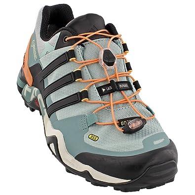 c2cc20c7e adidas outdoor Women s Terrex Fast R GTX Tactile Green Black Vapour Steel  Athletic Shoe