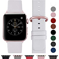 Fullmosa Compatible Apple Watch Bracelet 42mm/38mm 44mm/40mm en Cuir Véritable, Bracelet Apple Watch/iwatch Series 4 3 2 1 pour Homme Femme,Nike+ Hermes & Edition