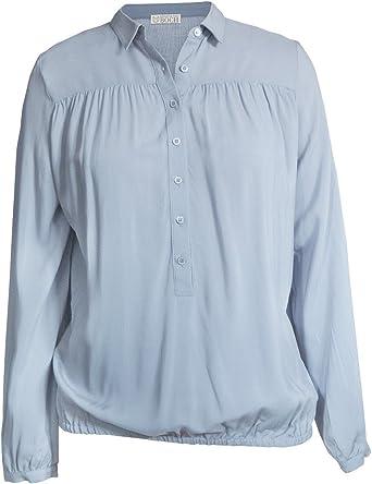 Brigitte von Boch - Mujer - Balmont Blusa Azul Claro: Amazon.es: Ropa y accesorios