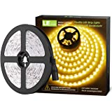 LE 12V LED Strip Light, Flexible, SMD 2835, 16.4ft Tape Light for Home, Kitchen, Party, Christmas and More, Non-Waterproof, Warm White(No Power Adapter)