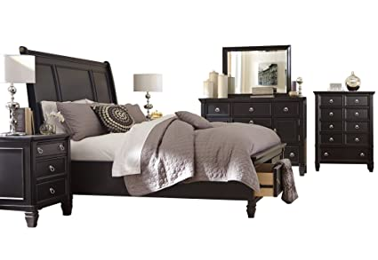 Ashley Greensburg 6 PC Bedroom Set E King Sleigh Bed Dresser Mirror 2  Nightstand Chest In