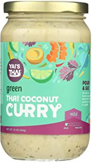 product image for YAI'S THAI, Thai Coconut Curry, Green, Pack of 6, Size 16 OZ, (Low Sodium Vegan Wheat Free)