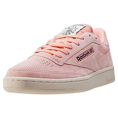 93789c50f5f Reebok Men s Club C 85 Pastels Trainers Desert Stone Pink Paperwhite ...