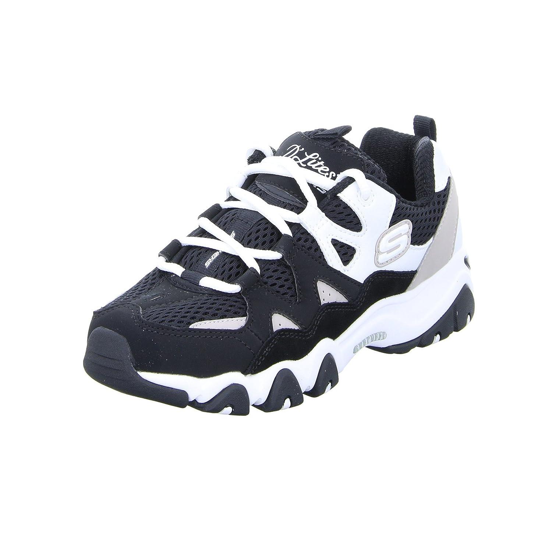 Skechers Damen Schnürer Sneaker D'LITES 2 Top Down Schnürer Damen MemoryFoam Schwarz Weißszlig; 23657f