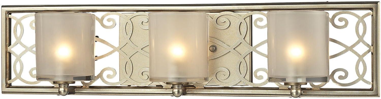 ELK Lighting 31428//3 Santa Monica Collection 3 Bath Light Aged Silver 6 x 23 x 4