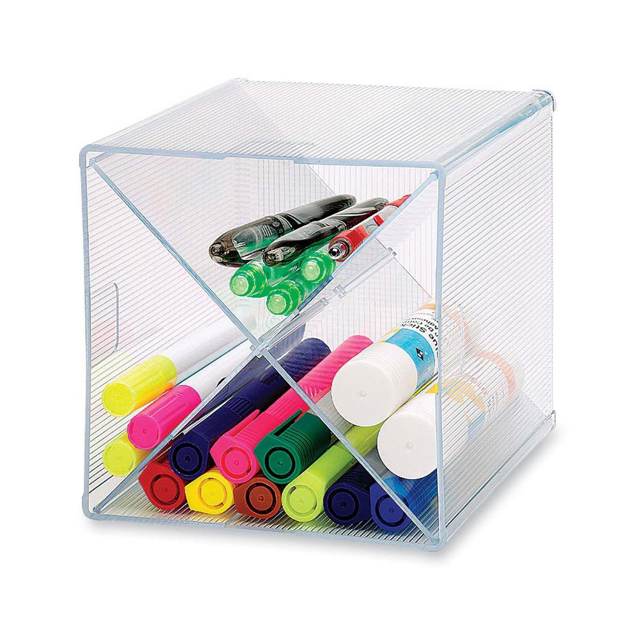 Sparco Storage Organizer, X-Cube, 6 x 6 x 6 Inches, Clear (SPR82979)