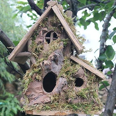 Casas para Pájaros Madera casa del pájaro, colgante de madera al aire libre del pájaro Casa
