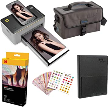 Markers 40 Paper Sticker Frames Kodak Dock 4x6 Printer Gift Bundle 9 Unique Colorful Sticker Sets Photo Album Case
