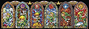 Pyramid America Legend of Zelda Stained Glass Windows Video Game Gaming Cool Wall Decor Art Print Poster 36x12