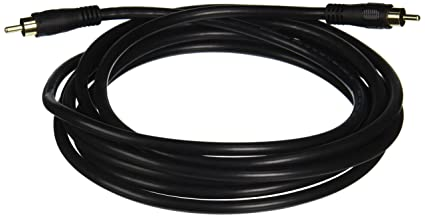 Monoprice 100620 12-Feet Coaxial Audio/Video RCA Cable M/M RG59U Cable