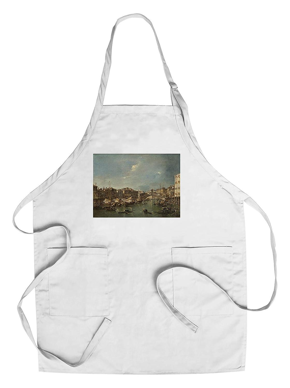 Grand Canal with theリアルト橋、ヴェネツィア – 傑作クラシック – アーティスト:フランチェスコGuardi C。1780 Chef's Apron LANT-57868-AP B018NNXGUG  Chef's Apron