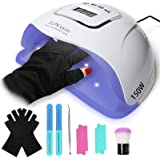 DREAM&GLAMOUR Gel UV LED Nail Lamp,150W Gel UV Nail Dryer,Auto Sensor, 45 Lights, 4 Timer Setting with Tools for Gel Nails Na