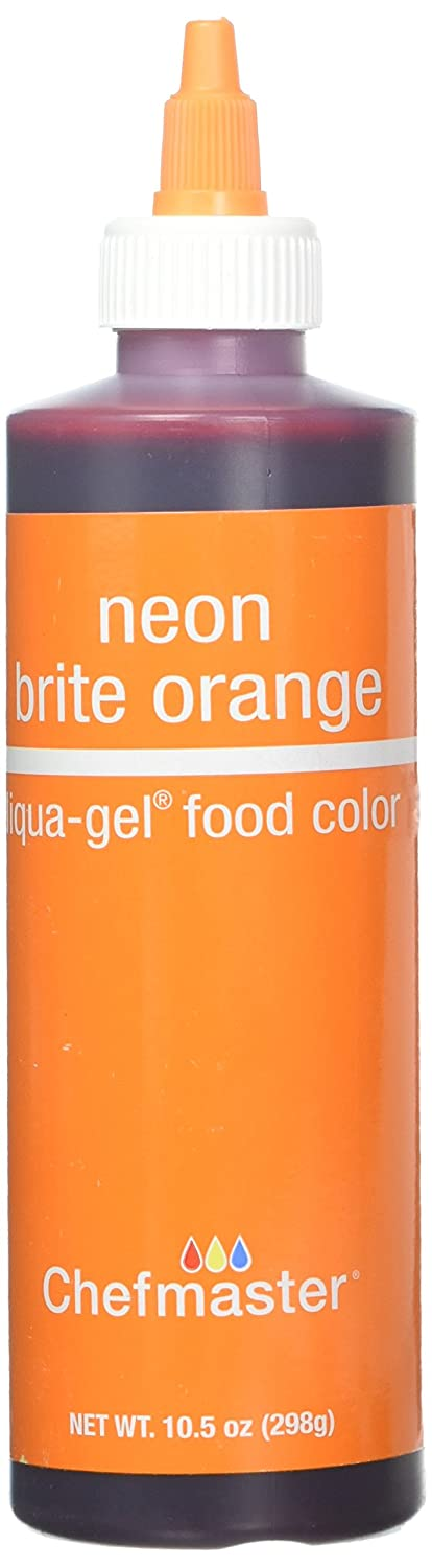 Chefmaster 751270 5756 Liqua-Gel Food Color, 10.5-Ounce, Neon Brite Orange